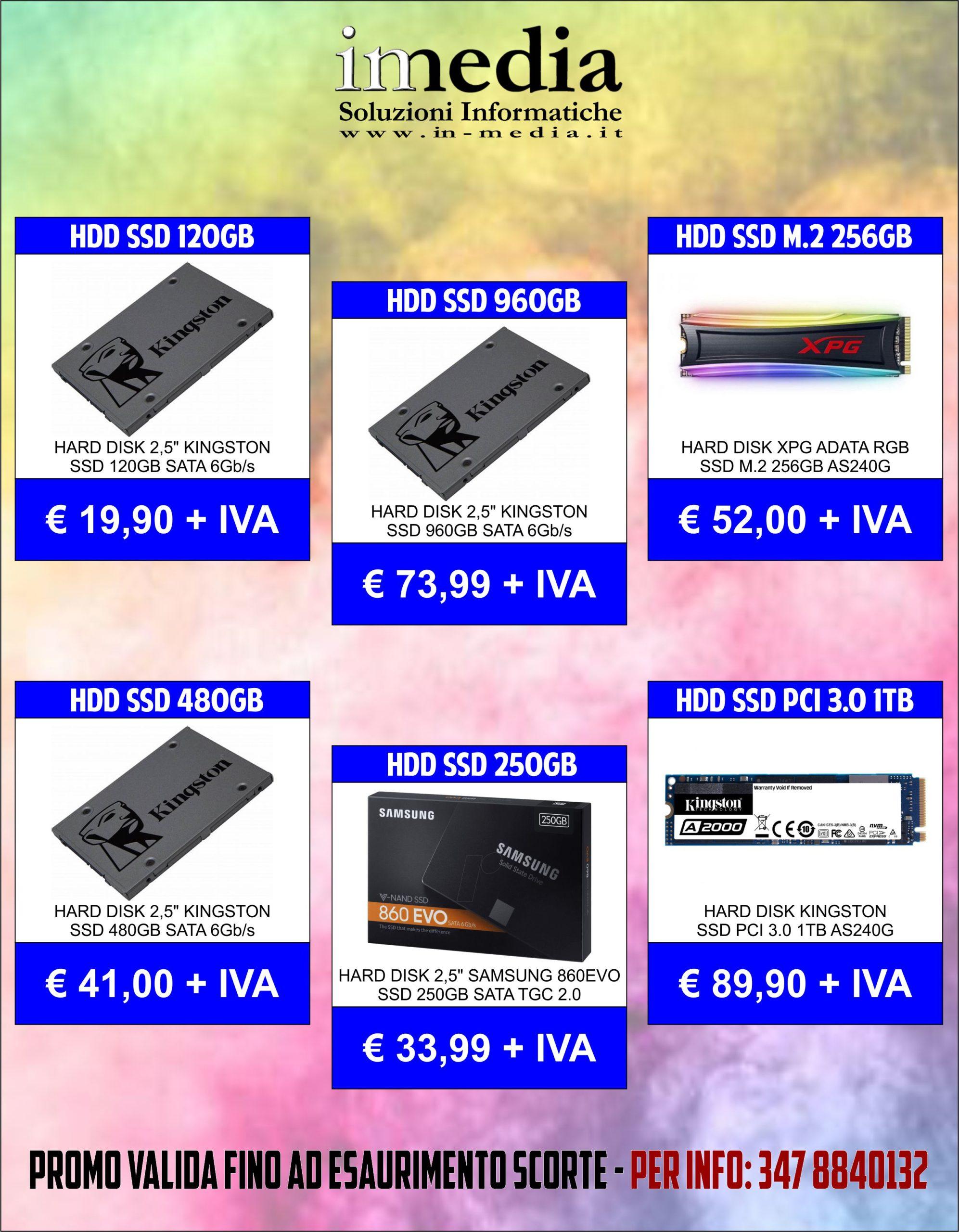 Promozione Hard Disk Drive SSD Gennaio 2021